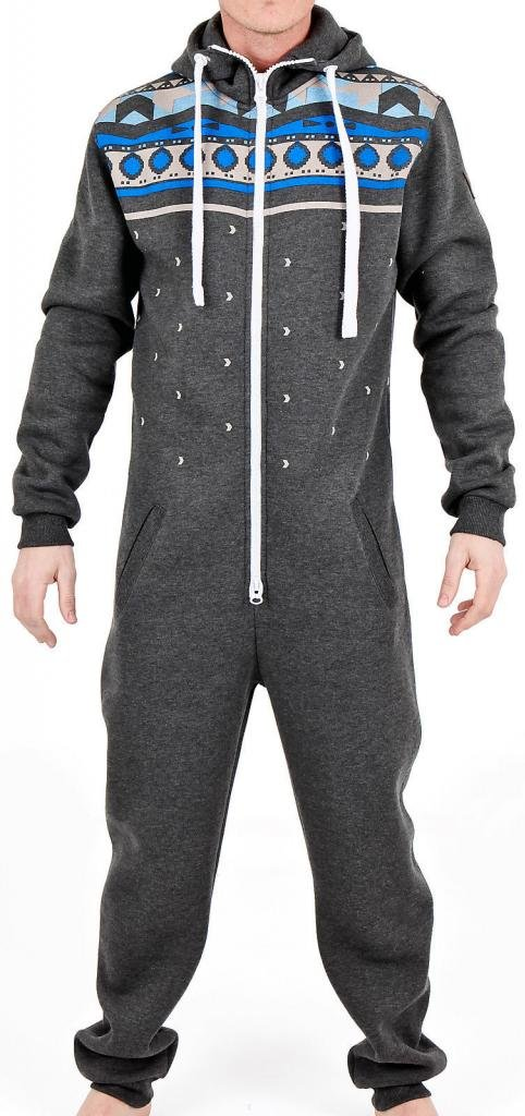 Skylinewears Men's Onesie Hooded Jumpsuit One Piece Non Footed Pajamas
