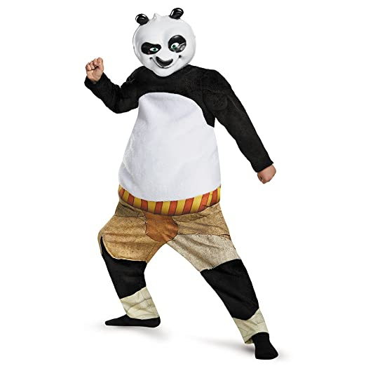 Disguise Panda-Po Deluxe/Muscle Costume, Medium (7-8)