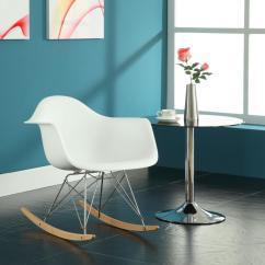Amazon Rocking Chair Wooden Patio Plans Lexmod Molded Plastic Armchair Rocker In