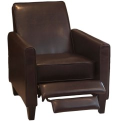 Amazon Recliner Chairs Bentwood Cane Cafe Great Deal Furniture Lucas Brown Leather Modern Sleek