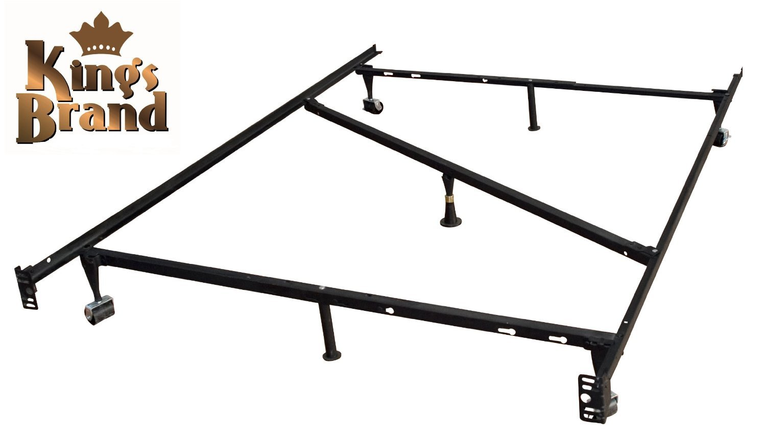 King S Brand 7 Leg Heavy Duty Adjustable Metal Bed Frame