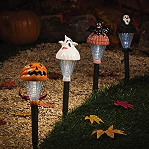 Amazoncom Set of 12 Haunts of Halloween Solar Powered