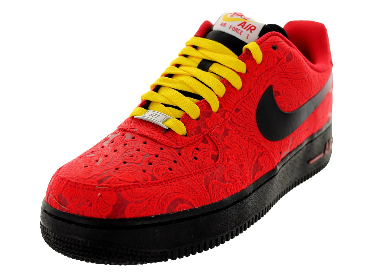 Nike Men's Air Force 1 Basketball Shoe Color: University Red / Black-University Red