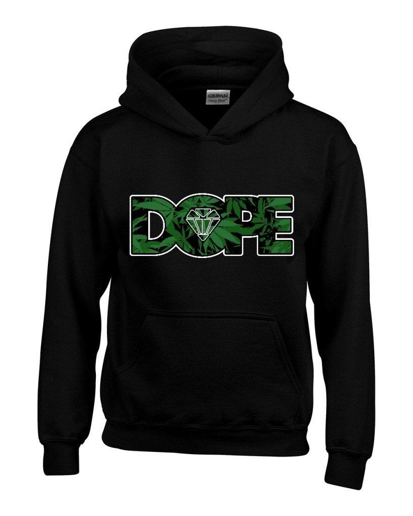Dope Diamond Weed Pattern Unisex Hoodie Weed Related Sweatshirts