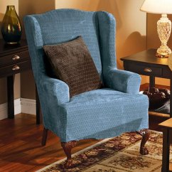 Slipcovers For Wingback Chairs With T Cushion French Script Occasional Chair Wing Slipcovers: December 2011: If Finding The Best Cheap White Our ...