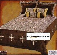 Western Bedding Zebra Cross 7 Piece Full | Western Bedding ...