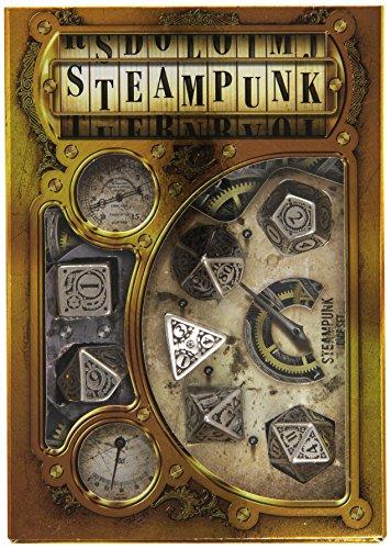 steampunk metal dice