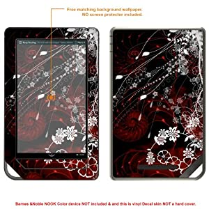 Protective Decal Skin Sticker for Barnes Noble NOOK COLOR release 2010 case cover NOOKcolor-523