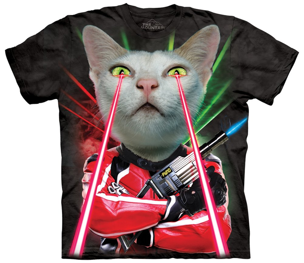 Lazer Cat Manimal Tee by The Mountain - Adult Sizes