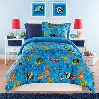 3 Piece Kids Full Queen Comforter Set Aquarium Themed ...