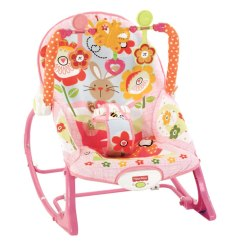 Fisher Price Chair Pink Ez Hang Chairs Loveseat Instructions Infant To Toddler Bunny Deluxe Rocker