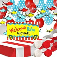 Amazon.com: Dr Seuss Decorations:Personalized Baby Shower ...