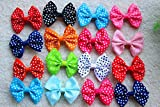 Hot Sales Dog Hair Clips Dog Topknot 5cm Large Size Polka Dots Dog Bows Cute Dog Pet Hair Clips Cute Bowknot Bows Pet Grooming Products Mix Colors Pet Hair Bows Topknot Alloy Clips 30pcs/lot