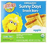 Earth's Best Organic Sunny Days Snack Bars, Apple, 8 Count (Pack of 6)