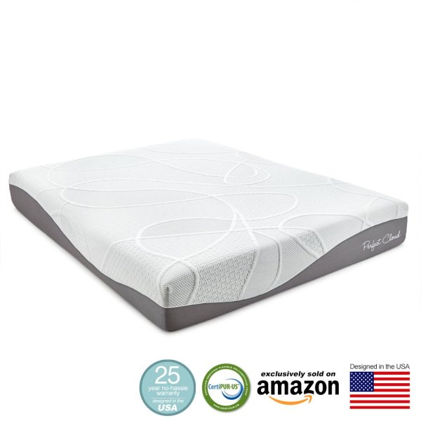Perfect Cloud Ultraplush Gel-max 10 Memory Foam Mattress Queen Size