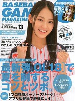 ベースボールゲームマガジン Vol.13 2014年 8/10号 [雑誌]