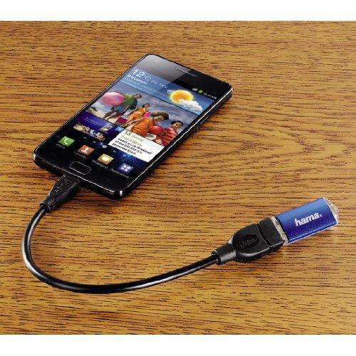 HAMA Cavetto Adattatore per Tablet, USB A 2.0 F/USB MICRO B 2.0 M, 0,15 metri, USB OTG, 3 stelle, Nero