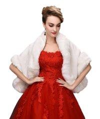 SK Studio Women's Wedding Fur Wraps and Shawls for Women ...
