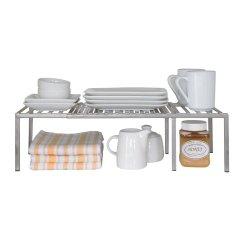 Kitchen Cabinet Storage Organizers Narrow Expandable Counter Shelf Rack