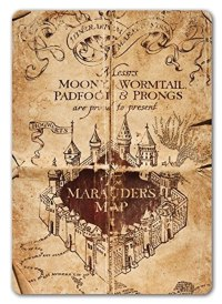 Marauders Map Metal Wall Sign Plaque Harry Potter Inspired ...