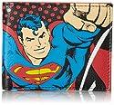 Superman Men's Bifold Wallet, Black, One Size