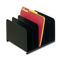 MMF Industries Steel 5-Compartment Vertical Desktop File ...