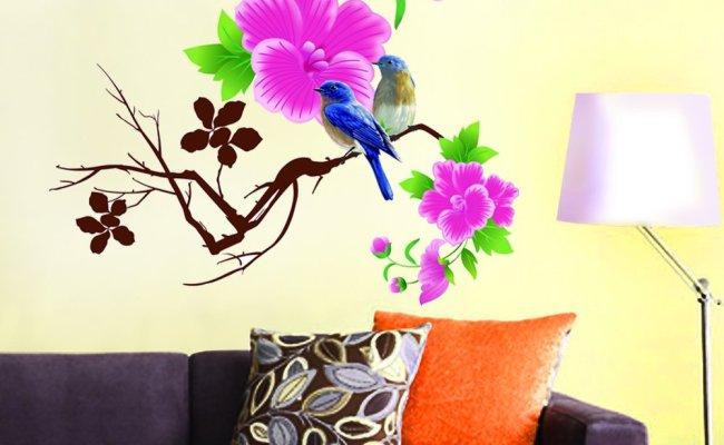 Amazon Decals Design Design Blue Birds With Flowers