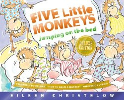 Five Little Monkeys Jumping on the Bed 25th Anniversary Edition (A Five Little Monkeys Story) by Eileen Christelow | Featured Book of the Day | wearewordnerds.com