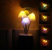 Cute Colorful Rainbow Color Mushroom LED Night-light ...