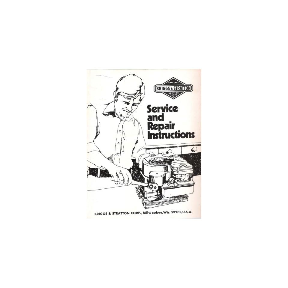 Original Briggs & Stratton Service and Repair Instruction