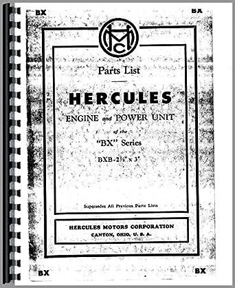Hercules Engines BXB Engine Parts Manual: Amazon.com