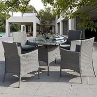 Amazon.com : Giantex 5 Pc Patio Rattan Furniture Set ...