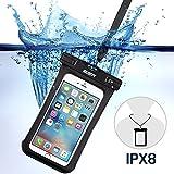ESR スマートフォン用防水ケース 防水保護等級IPX8取得 水深30m防水テスト 安全ロック100%密封 内蔵ポケット付属 iPhone6s Plus,iPhone6s等6センチ以下全機種対応 iphone6s防水携帯ケース ブラック