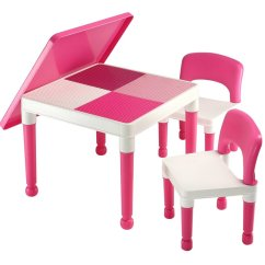Play Table And Chairs Overstuffed Chair Covers New Abracadabrazoo Exclusive Girls Pink 2 In 1