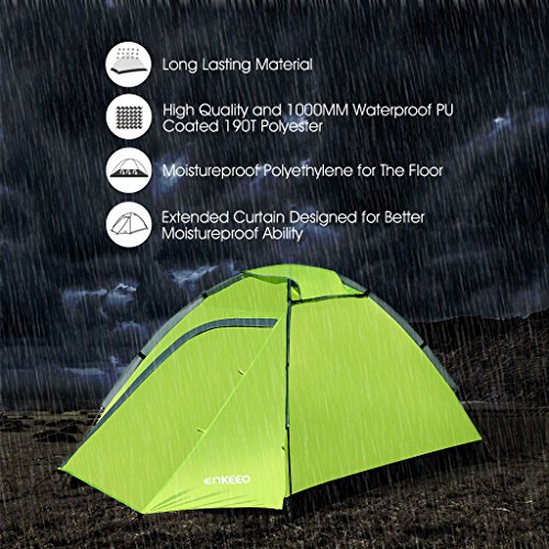 Enkeeo-2-Person-C&ing-Tent-Ultralight-Backpacking-Tents- & Enkeeo 2 Person Camping Tent Ultralight Backpacking Tents with ...