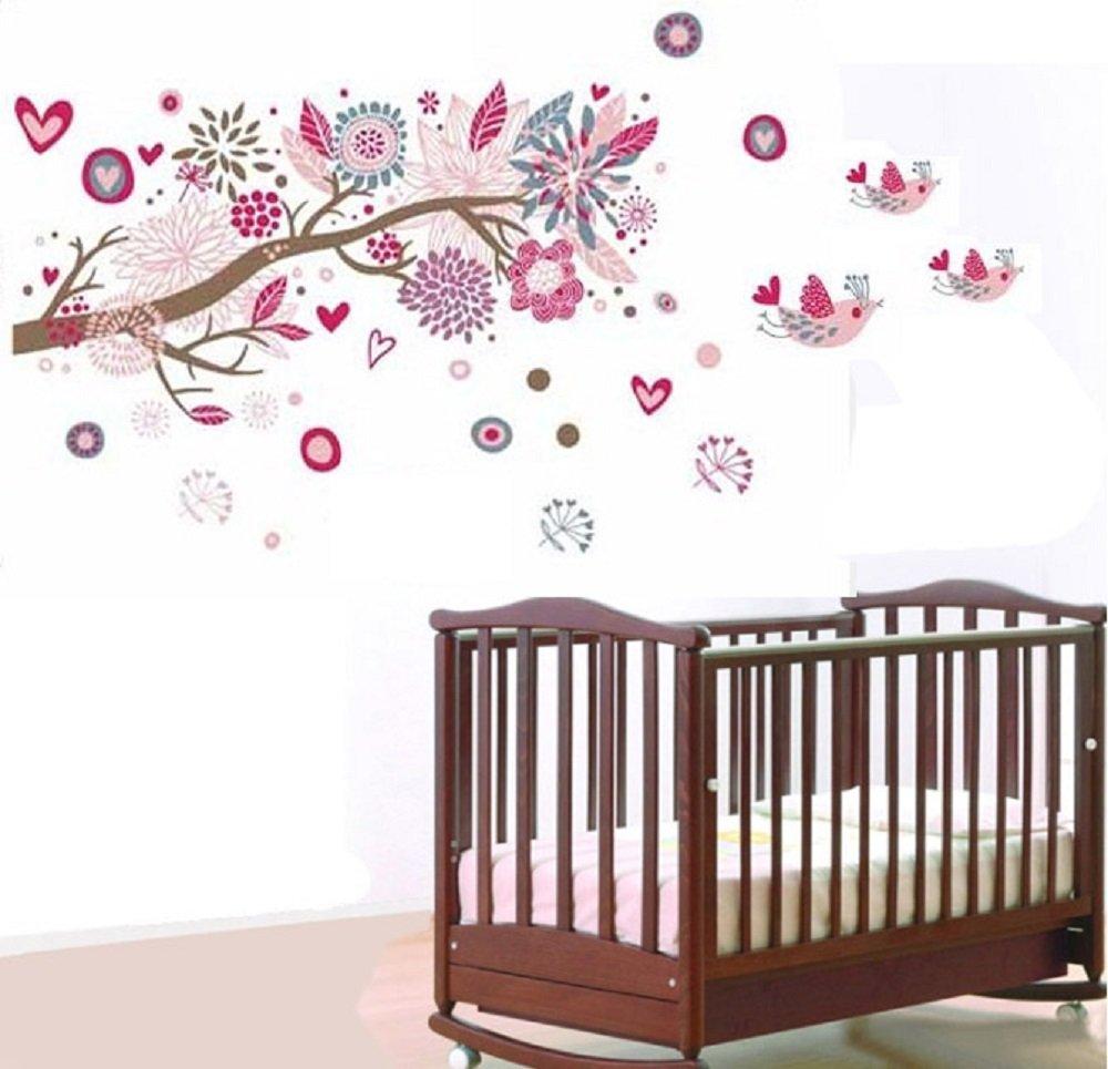 Wandtattoo Blumen Kinderzimmer Wohnzimmer Grundriss Ideen