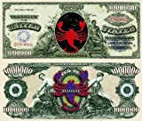 Zodiac Scorpio Novelty $Million Dollar Bill Collectible