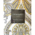 Amazon com yellow and gray medallion paisley print shower curtain
