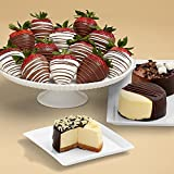 Shari's Berries - Dipped Cheesecake Trio and Full Dozen Swizzled Strawberries