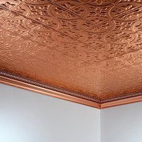 Fasade Easy Installation Traditional 2 Polished Copper ...