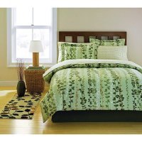 Nature, Green Leaf & Vine Full Size Comforter Set (8 Piece ...