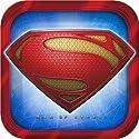 Superman Man of Steel Dinner Plates - 8 Count