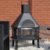 Outdoor Garden Fire Place Log Burner BBQ / Patio Heater ...