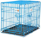 "Aspen Pet Puppy 2-Door Training Retreat Crate, 24"", Blue"