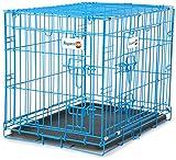 "Aspen Pet Puppy 2-Door Training Retreat Crate, 24"", Blue"