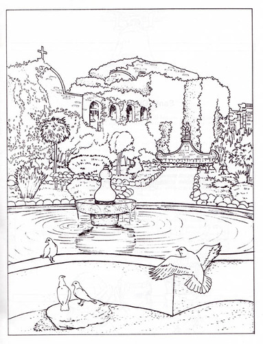 California Missions: An Educational Coloring Book: Peter M