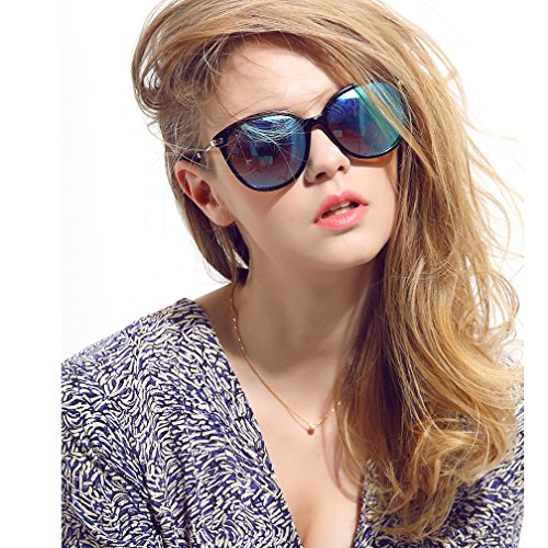 Women's Polarized Sunglasses Cat Eye Sunglasses Colored Lens With Case