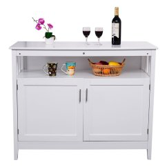 Kitchen Sideboard Cabinet New Knives Costzon Storage Dining Buffet Server