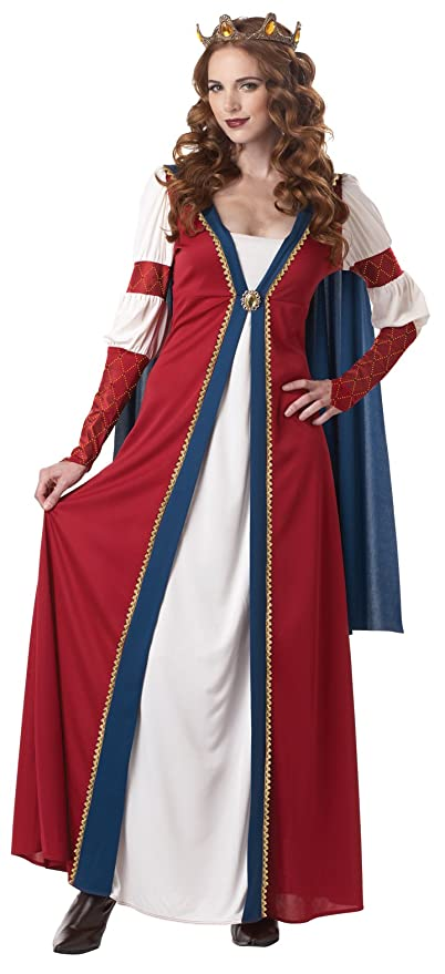 California Costumes Renaissance Queen, Red/Blue, X-Large Costume
