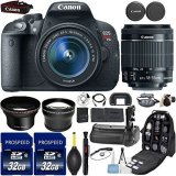 Canon-EOS-Rebel-T5i-DSLR-Camera-with-18-55mm-IS-STM-Lens-Kit-Includes-58mm-HD-Wide-Angle-Lens-22x-Telephoto-Lens-2Pcs-32GB-Commander-Card-Battery-Grip-Extra-Battery-Backpack-Case